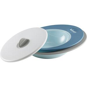 Set assiettes évolutives couvercle vapeur ellipse blue