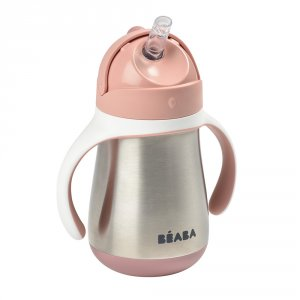 Tasse paille inox 250 ml - old pink