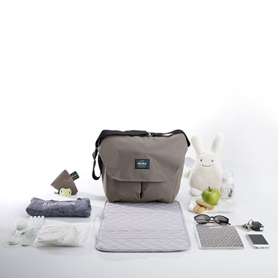 Sac à langer vienne 2 smart colors taupe Beaba