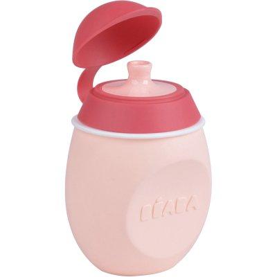 Gourde babysqueez 2 en 1 pink Beaba