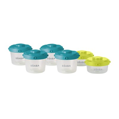Lot de 6 portions clip 60 et 120ml Beaba