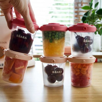 Lot de 6 portions 200ml Beaba