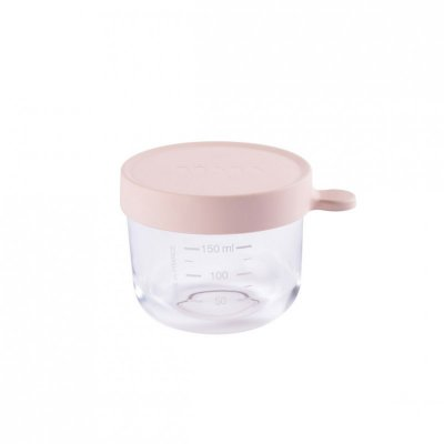 Pot de conservation portion en verre 150 ml pink Beaba
