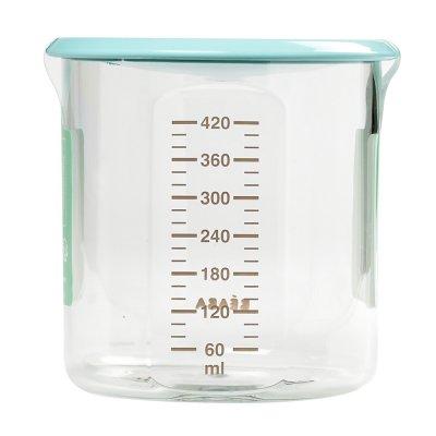 Pot de conservation maxi + portion 420 ml tritan light blue Beaba