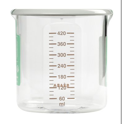 Pot de conservation maxi + portion 420 ml tritan grey Beaba