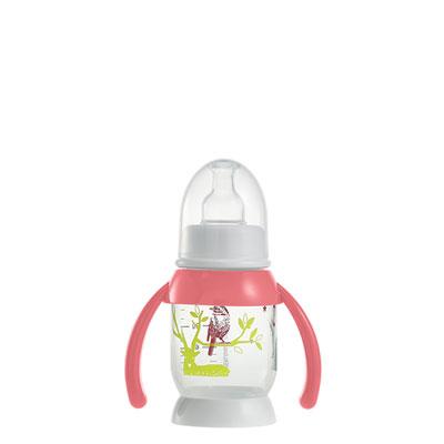 Biberon sans bpa demi-lune bunny poignée pink 120 ml Beaba