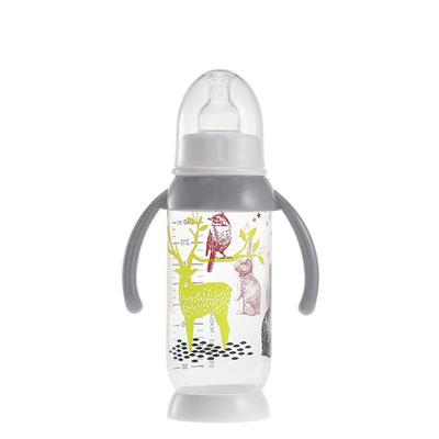 Biberon sans bpa demi-lune bunny poignée grey 240 ml Beaba