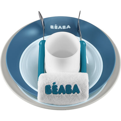 Coffret boite repas ellipse blue Beaba