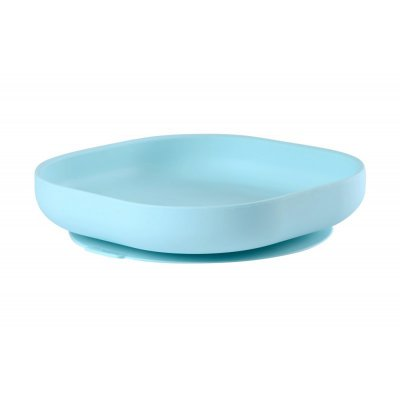 Assiette silicone ventouse light blue Beaba