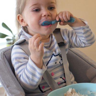 Assiette silicone ventouse light blue Beaba