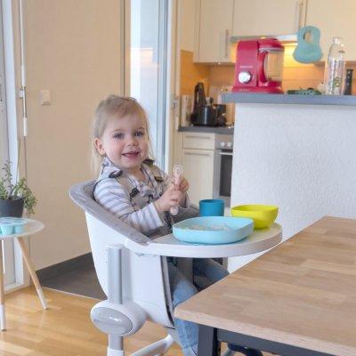 Cuillère bébé 2ème âge silicone pink Beaba