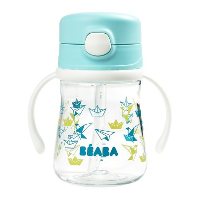 Tasse paille 240 ml - light blue Beaba