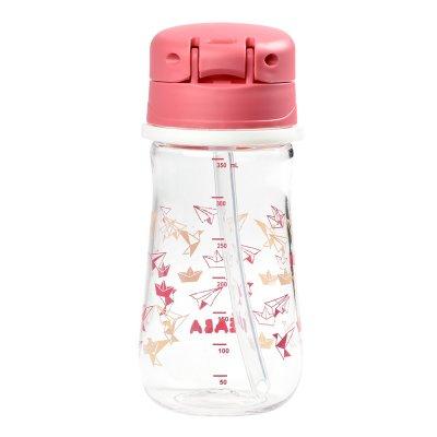 Tasse paille 350 ml - dark pink Beaba