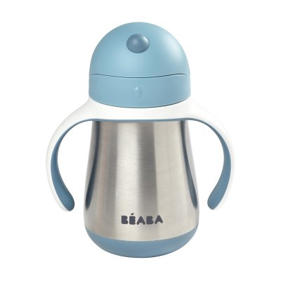 Tasse paille inox 250 ml - windy blue Beaba