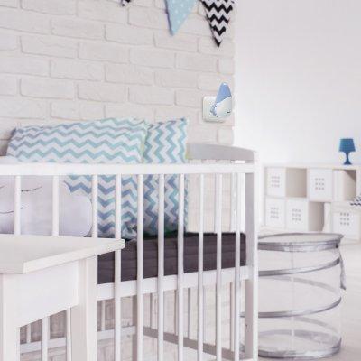 Veilleuse bébé pixie star grey/blue Beaba