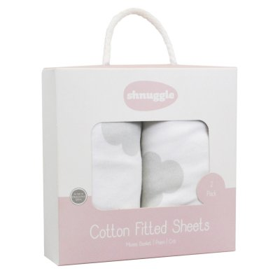 Lot de 2 draps housse pour couffin nuage beaba by shnuggle Beaba by shnuggle