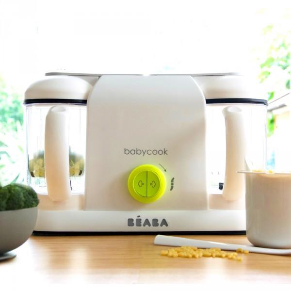 robot de cuisine babycook plus neon de beaba en vente chez cdm. Black Bedroom Furniture Sets. Home Design Ideas