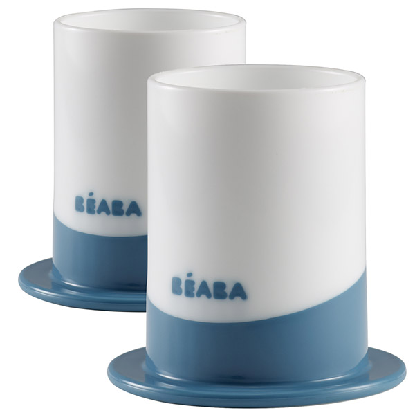 Lot de 2 verres ellipse blue Beaba