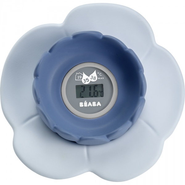 Thermométre de bain lotus grey/ blue Beaba