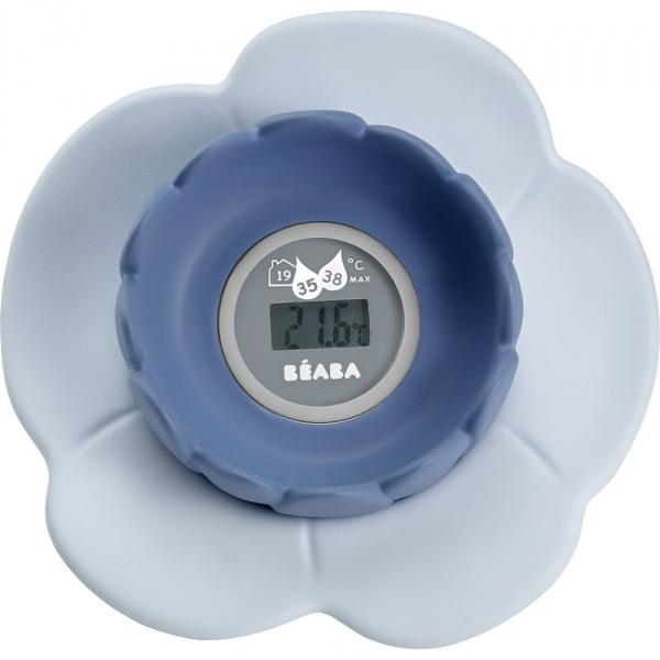 Thermométre de bain lotus grey/ blue Beaba