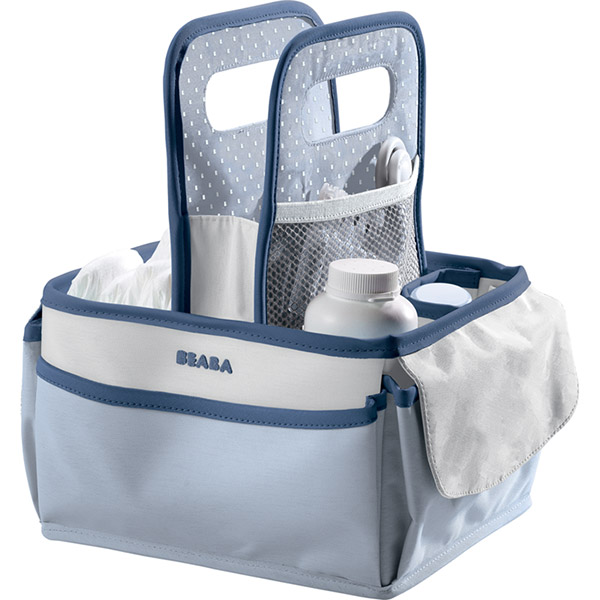 Trousse de toilette panier nurserie mineral Beaba