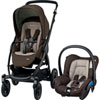 Pack poussette duo stella citi earth brown Bebe confort