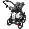 Pack poussette duo high trek cabriofix concrete grey 2016 Bebe confort