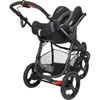 Pack poussette trio high trek cabriofix windoo black raven 2016 Bebe confort