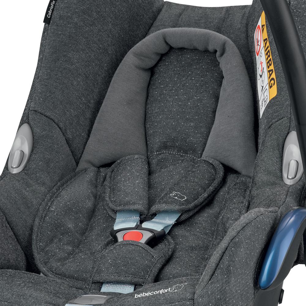 si ge auto coque cabriofix sparkling grey groupe 0 de bebe confort. Black Bedroom Furniture Sets. Home Design Ideas
