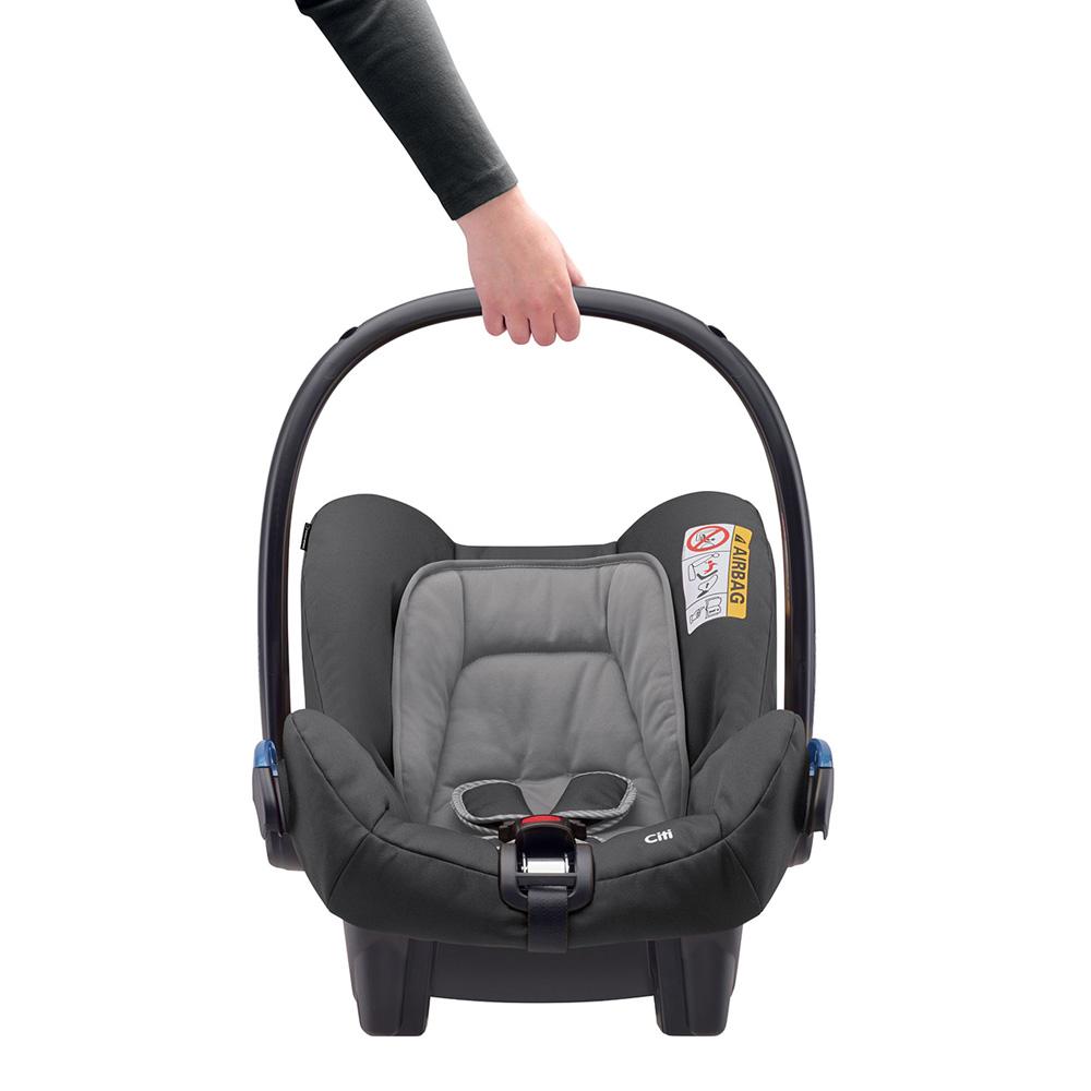 Si ge auto citi concrete grey groupe 0 de bebe confort for Siege auto 0 mois