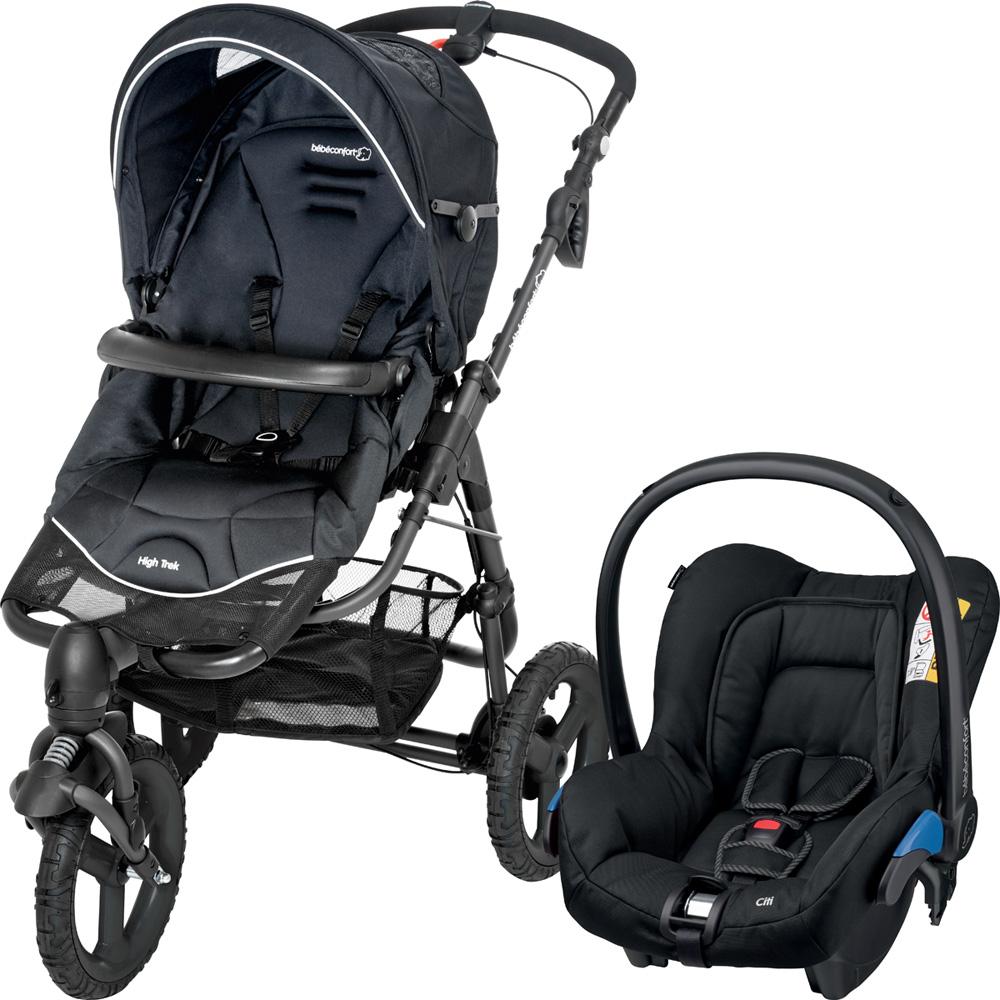 pack poussette duo high trek citi black raven de bebe confort. Black Bedroom Furniture Sets. Home Design Ideas