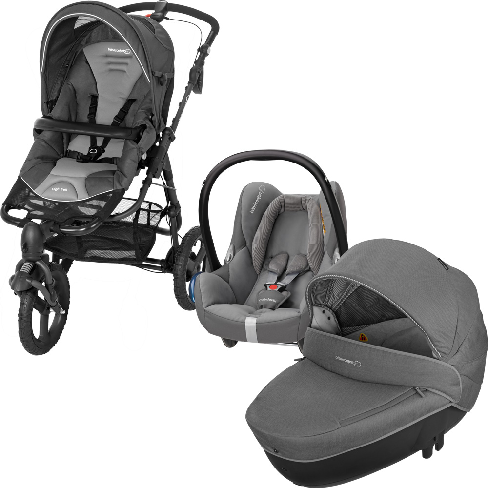 Pack poussette trio high trek cabriofix windoo concrete grey 2016 20 sur allob b - Hamac poussette high trek ...