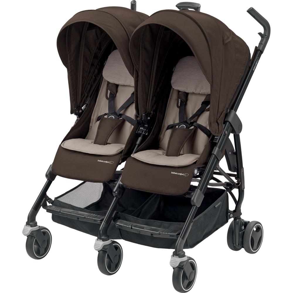 poussette jumeaux dana for 2 earth brown de bebe confort. Black Bedroom Furniture Sets. Home Design Ideas