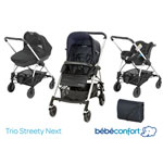 Poussette pack trio streety next total black 2014 pas cher