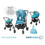 Poussette combiné trio loola excel mosaic blue 2015 de Bebe confort