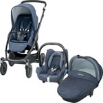 Pack poussette trio stella cabriofix compacte nomad blue