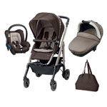 Pack poussette trio loola excel earth brown 2016 pas cher