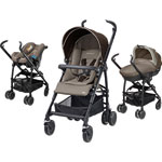 Poussette pack trio maia earth brown 2015 pas cher