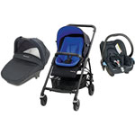 Poussette pack trio streety + mix & match rich blue 2014 pas cher
