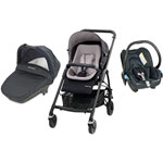 Poussette pack trio streety + mix & match stone grey 2014 pas cher