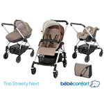 Poussette pack trio streety next walnut brown 2014 pas cher