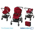 Poussette pack trio streety next raspberry red 2014 pas cher