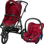 Pack poussette duo high trek citi robin red