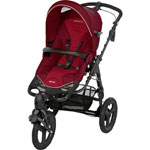 Poussette 3 roues high trek raspberry red 2014 pas cher