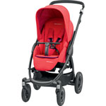 Poussette 4 roues stella red orchid