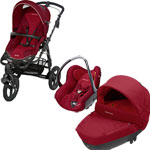 Poussette trio high trek creatis raspberry red 2014 pas cher