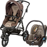 Pack poussette duo high trek streety earth brown 2015 pas cher