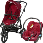 Pack poussette duo high trek streety robin red 2015 pas cher