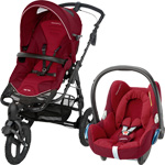 Pack poussette duo high trek cabriofix robin red 2015 pas cher