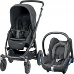Pack poussette duo stella cabriofix triangle black